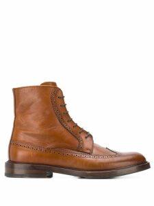 Brunello Cucinelli brogue boots - Brown