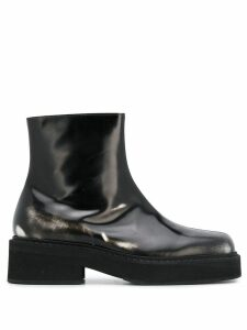 Marni side zip ankle boots - Black