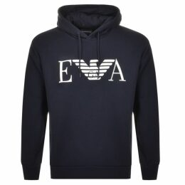 Emporio Armani Pullover Logo Hoodie Navy