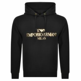 Emporio Armani Pullover Logo Hoodie Black