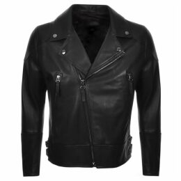 BOSS HUGO BOSS Golen Leather Jacket Black