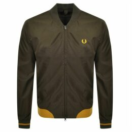 Fred Perry Twill Bomber Jacket Green