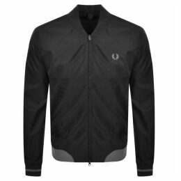 Fred Perry Twill Bomber Jacket Black
