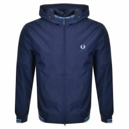 Fred Perry Tipped Hooded Jacket Navy