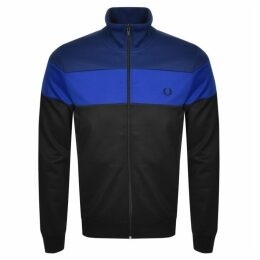 Fred Perry Colour Block Track Zip Sweatshirt Blue