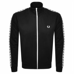Fred Perry Laurel Taped Track Top Black