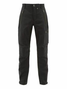 Acne Studios - Ladon Panelled Leather Biker Trousers - Mens - Black