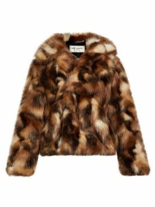 Saint Laurent - Faux Fur Jacket - Mens - Brown