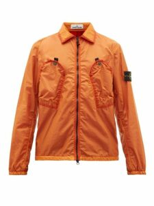 Stone Island - Garment Dyed Shell Jacket - Mens - Orange