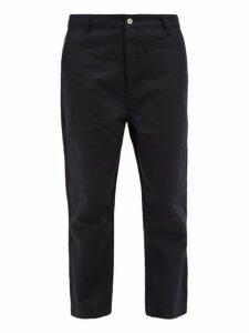 Loewe - Two Tone Straight Leg Cotton Blend Chinos - Mens - Navy Multi