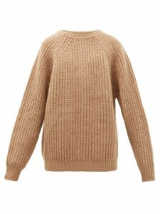 Marni - Oversized Ribbed Virgin Wool Sweater - Mens - Brown