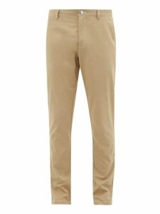 Burberry - Slim Fit Cotton Chino Trousers - Mens - Beige