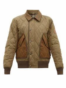 Burberry - Chilton Quilted Bomber Jacket - Mens - Khaki