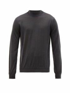 Giorgio Armani - Fine Cashmere Jersey Roll Neck Sweater - Mens - Grey