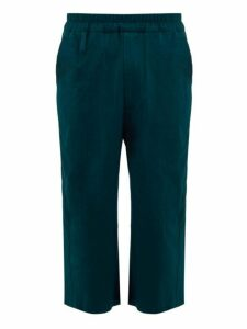 By Walid - Ben Straight Leg Linen Trousers - Mens - Mid Blue