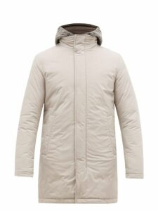 Herno - Gilet Insert Quilted Hooded Parka - Mens - Light Grey