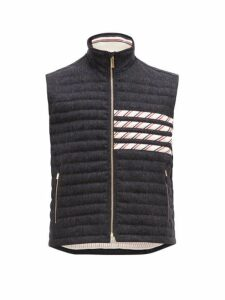 Thom Browne - 4 Bar Quilted Down Wool Gilet - Mens - Navy