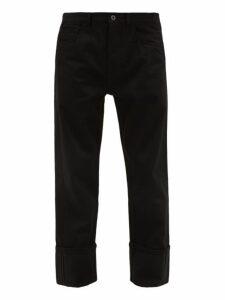 Valentino - 2099 Logo Print Straight Leg Jeans - Mens - Black
