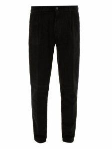 Altea - Verona Cotton Corduroy Trousers - Mens - Black
