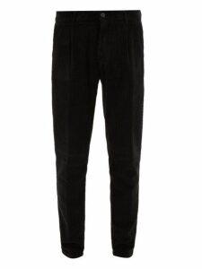 Altea - Verona Cotton Corduroy Trousers - Mens - Black