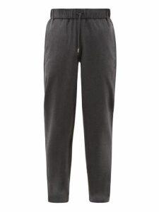 A.p.c. - Straight Leg Cotton Blend Trousers - Mens - Grey