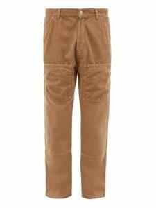 Jacquemus - Corduroy Panelled Straight Leg Jeans - Mens - Beige
