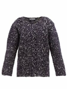 Jacquemus - Berger Cable Knit Wool Sweater - Mens - Navy