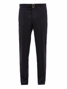 Officine Générale - Paul Pinstriped Wool Twill Trousers - Mens - Navy