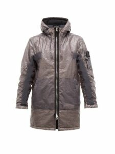 Stone Island Shadow Project - Hooded Dual Grid Nylon Jacket - Mens - Grey