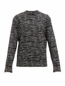 Balenciaga - Logo Jacquard Wool Blend Sweater - Mens - Black White