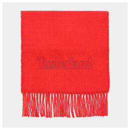 Timberland Scarf Gift Box For Men In Red Red, Size ONE