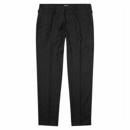 Dolce & Gabbana Black Logo-jacquard Wool Trousers