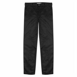 Givenchy Black Slim-leg Coated Cotton Chinos