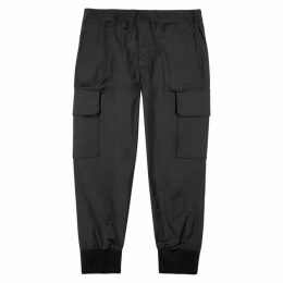 Neil Barrett Black Shell Cargo Trousers