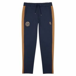 Wooyoungmi Navy Striped Neoprene Sweatpants