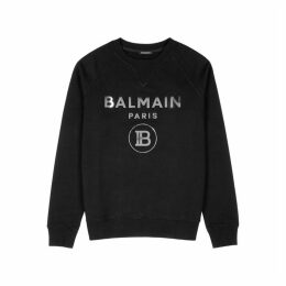 Balmain Black Logo Cotton Sweatshirt