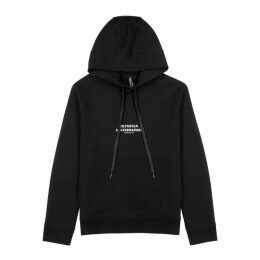 Neil Barrett Black Hooded Cotton Sweatshirt
