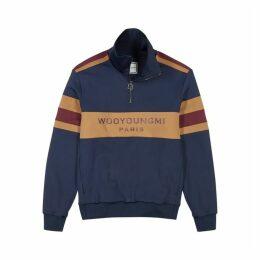 Wooyoungmi Navy Striped Neoprene Sweatshirt