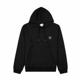 Wooyoungmi Black Hooded Cotton Sweatshirt