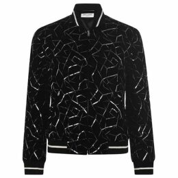 Saint Laurent Line Sequin Embellished Jacket