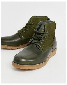 Levis Jax leather hiker boot in olive green