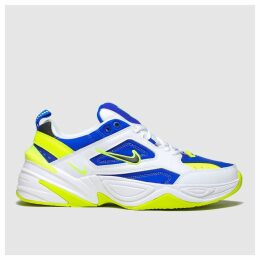 Nike White & Blue M2k Tekno Trainers