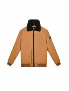 Mens Caramel Ma-1 Flight Bomber Jacket, BROWN