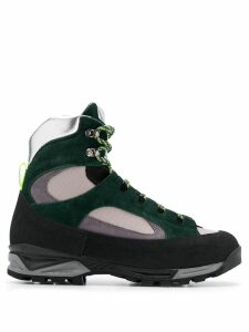 Diemme contrasting panel boots - Green
