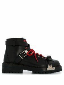Versace combat boots - Black