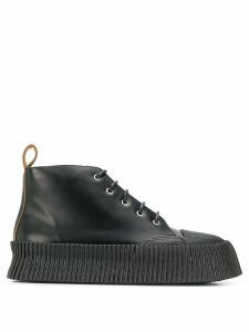 Jil Sander platform lace-up boots - Black