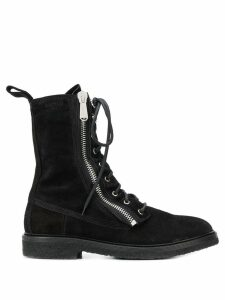 Balmain combat ranger ankle boots - Black