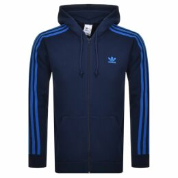 adidas Originals 3 Stripes Full Zip Hoodie Navy