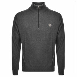 PS By Paul Smith Pullover Zip Neck Jumper Grey