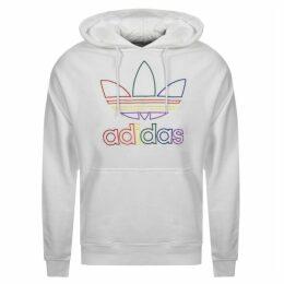 adidas Originals Trefoil Pride Hoodie White